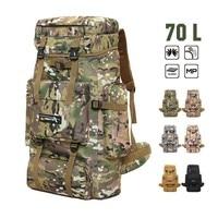 6 Color Military Tactics High Capacity 70 L Backpack Outdoor Mountaineering Bag Camouflage Waterproof Hiking Trekking Rucksack