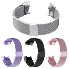 Ремешок для Fitbit Charge 3 Hr, стальной металлический Безвинтовой ремешок для Fit Bit Charge3, сменный браслет на запястье S L