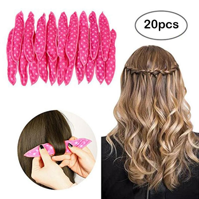20pcs/lot Magic Sponge Pillow Soft Hair Roller Best Flexible Foam and Sponge Hair Curlers DIY Styling Hair Rollers Curl Tools