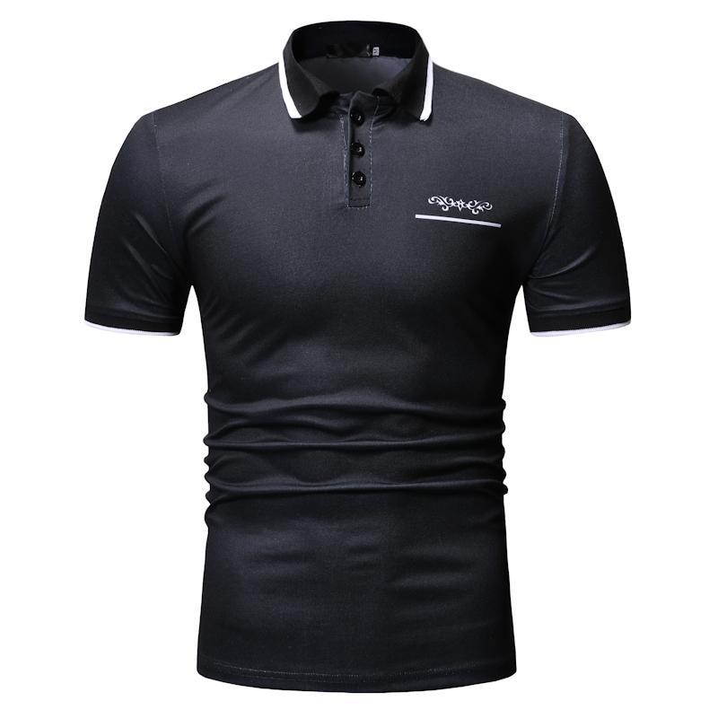 Short sleeve Tops Casual Men   Polo   Shirt Men's Clothing Tees Camiseta Summer Unique design   Polo   Shirt Men Solid color