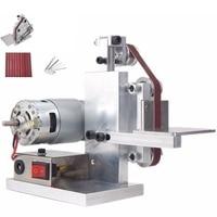 Hot Us Plug Diy Mini Belt Sander Bench Mount Grinder Polishing Grinding Machine Buffer Electric Angle Grinder 175x110x140Mm