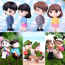 2 шт./1 комплект, украшение для дома, сказочные фигурки для любителей сада, высококачественные миниатюрные фигурки, популярные милые фигурки из смолы, Лидер продаж