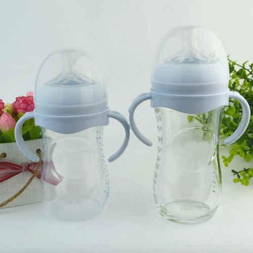 Akcesoria dla dzieci chwytu dłoni dla butelka z podajnikiem uchwyt dla Avent naturalne szerokie usta PP szkło butelki do karmienia dziecka uchwyt butelki