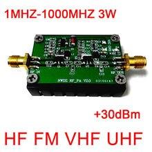1 МГц 1000 МГц 3 Вт 35DB HF VHF UHF FM передатчик широкополосный Радиочастотный усилитель мощности для любительской рации коротковолновый пульт дистанционного управления