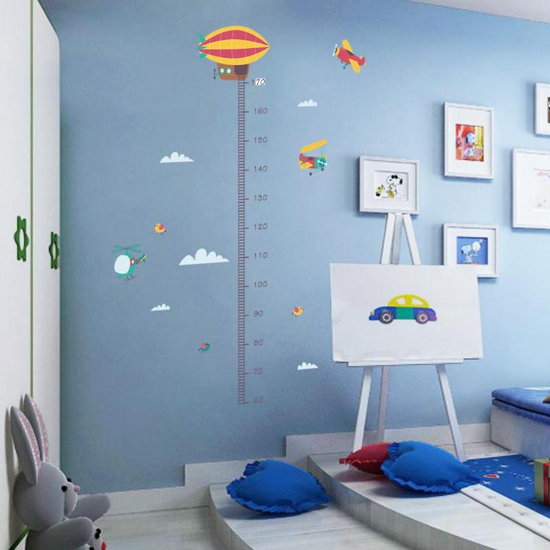 10 Types Cartoon Measure Height Gauge Rulers Stickers Wall Stickers Kids Decor Height Meter Drawing Tool For Child