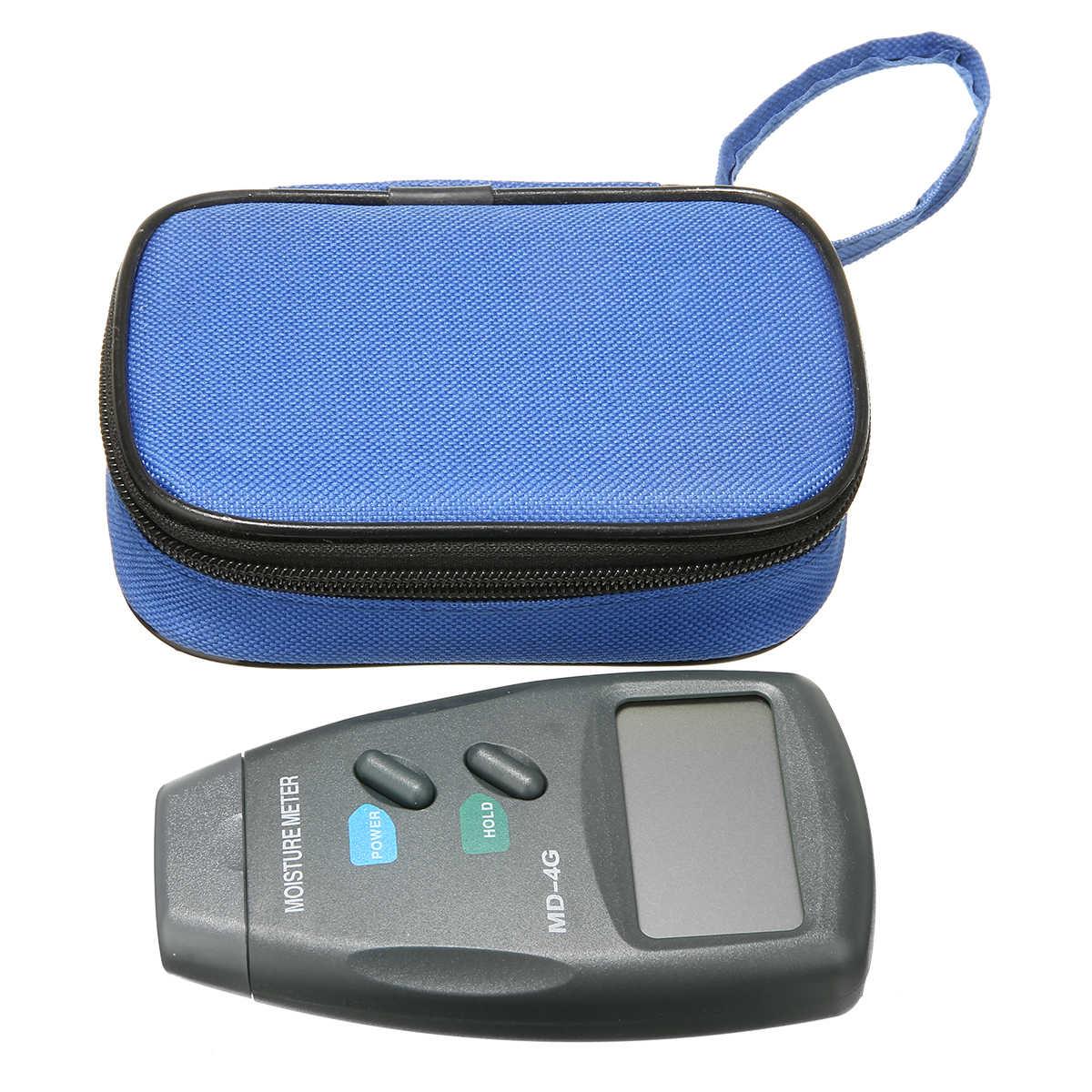 4 Pin Madeira Medidor de Umidade Digital Pro Damp Detector Sensor de Umidade da Madeira Testador de Gesso com Grande Display LCD