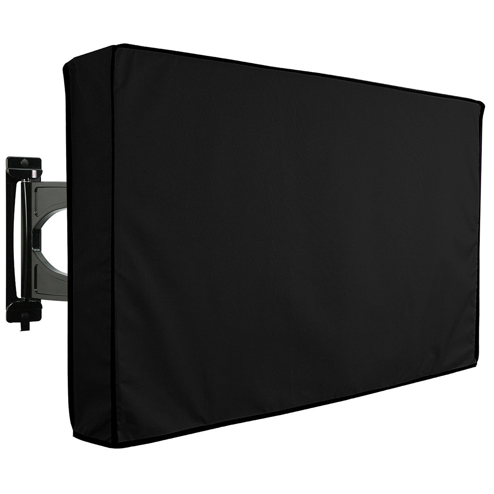 22inch Black <font><b>TV</b></font> <font><b>cover</b></font> <font><b>Outdoor</b></font> <font><b>TV</b></font> <font><b>Cover</b></font> Universal Waterproof Dustproof Oxford Cloth LED HDTV Protector image
