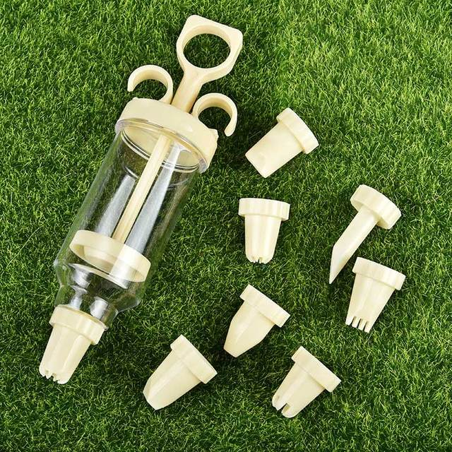 Confectionary Cookie Tips Pastry Nozzles Plastic 1 Set 8Pcs Cream Nozzle Cream Gun DIY Pastry Syringe Extruder Kitchen Gadgets