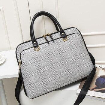 2019 frauen Aktentasche Tasche Frau Laptops Handtasche Arbeit Büro Tasche Dame Umhängetaschen Für Damen Business Handtaschen Computer 14 Zoll