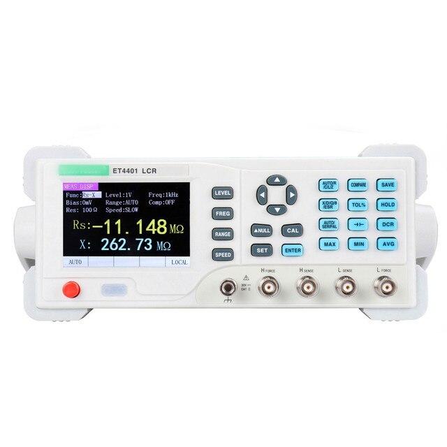 Et4401/et4402/et4410 desktop medidor digital l cr medidor de capacitância resistente impedância indutância medida ponte l cr medidor de medidor