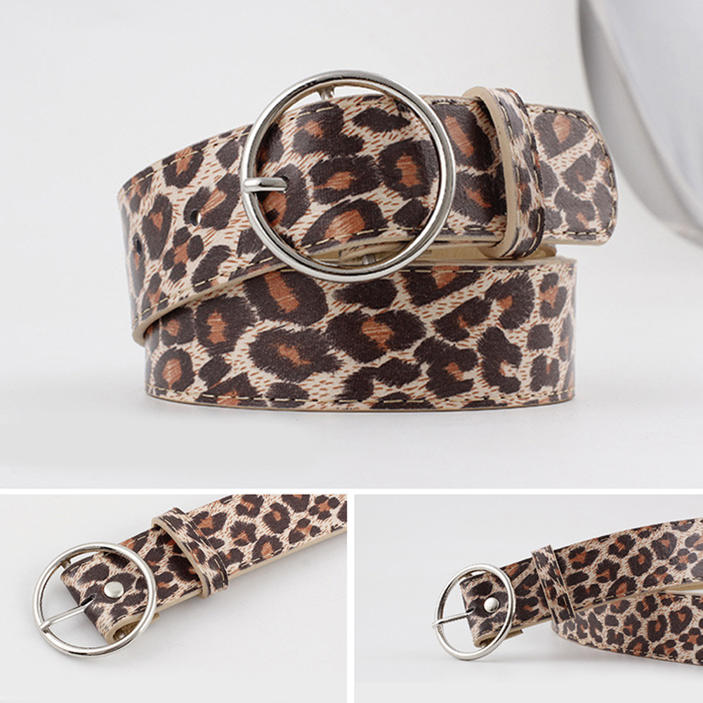Leopard Belts Printed Dress Strap Waist Belt Fashion Adjustable Decoration Waistband Sexy Round Fashion Pants Waist Belts in Women 39 s Belts from Apparel Accessories