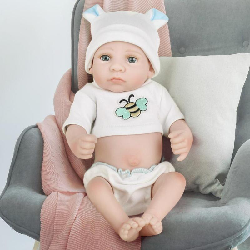 Lovely Silicone Reborn Baby Dolls Lifelike Simulation Doll Toy Infant Gift