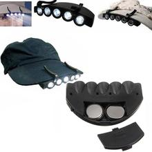 Free Hat Hunting Clip-On Head Light etc Hat Fishing New Headlamp Hands Fishing Camping LED etc Hiking 5 White Camping