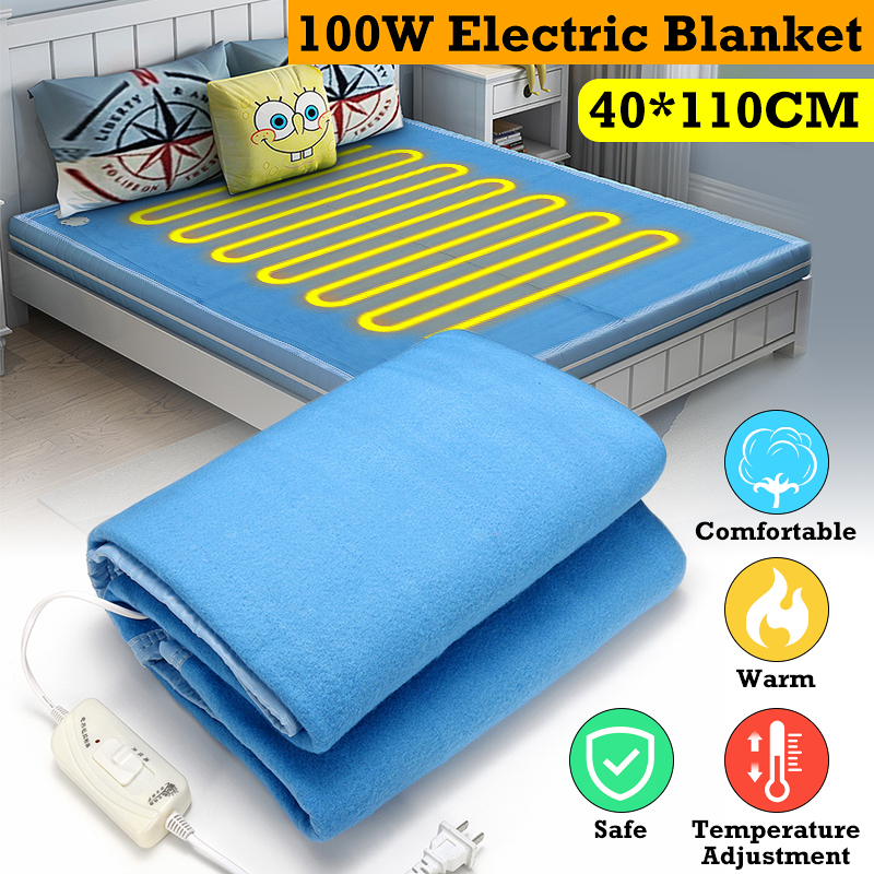 Electric Blanket 140X110cm Double Bed Temp Adjustable Winter Thicker Heated Heater Thermostat Heating Carpet Radiation-Free 100WElectric Blanket 140X110cm Double Bed Temp Adjustable Winter Thicker Heated Heater Thermostat Heating Carpet Radiation-Free 100W