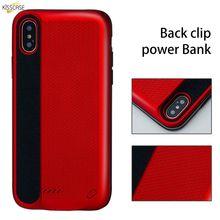 лучшая цена KISSCASE Battery Charger Phone Case For Apple iPhone X XS 8 Plus Power Bank Portable Charging Box  External Back Battery Pack