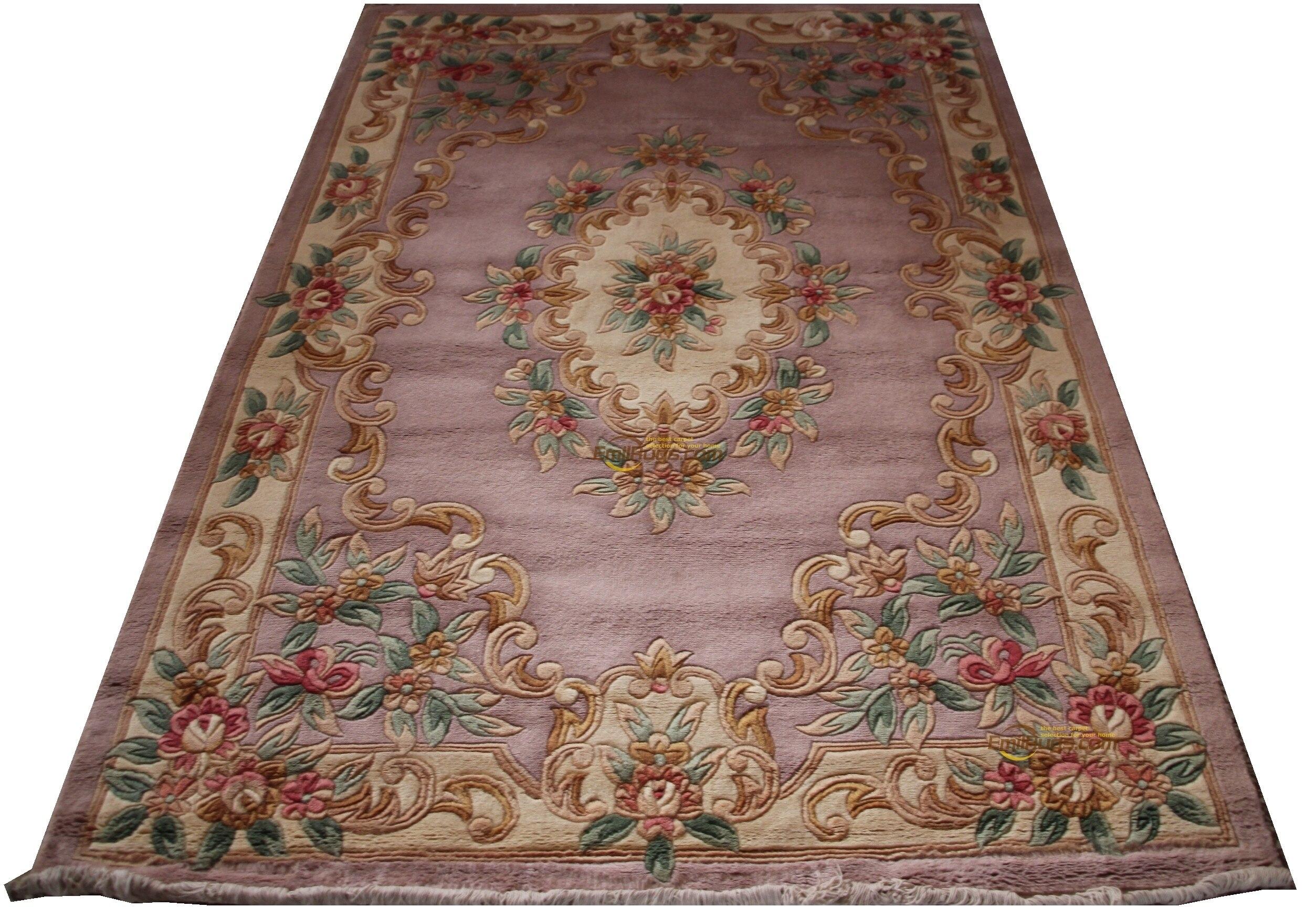 Tapis français en laine sur tapis de Savonnerie en peluche épais fabriqué à la machine tapis fait sur commande 6all 510 240 gc85savyg28