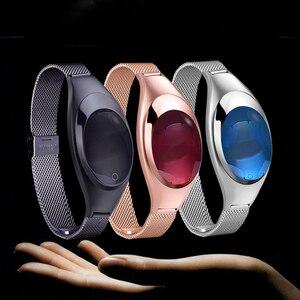 Image 5 - Z18 inteligentna bransoletka do zegarka tester ciśnienia krwi pulsometr dla kobiet prezent