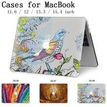 Для ноутбука сумка MacBook чехол для ноутбука для MacBook Air Pro retina 11 12 13,3 15,4 дюймов с защитой экрана крышка клавиатуры