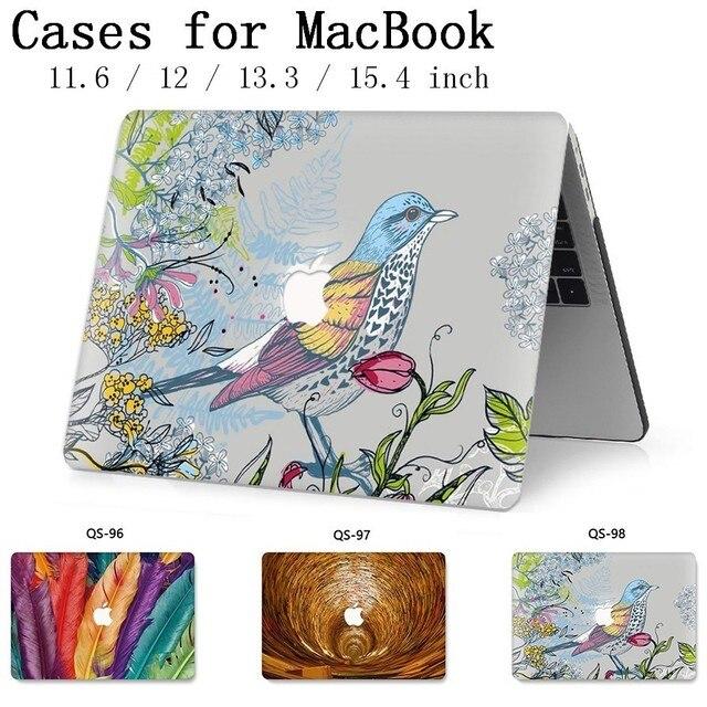 ノートブックバッグ MacBook ラップトップケース Macbook Air のプロ網膜 11 12 13.3 15.4 インチスクリーンプロテクターキーボードカバー