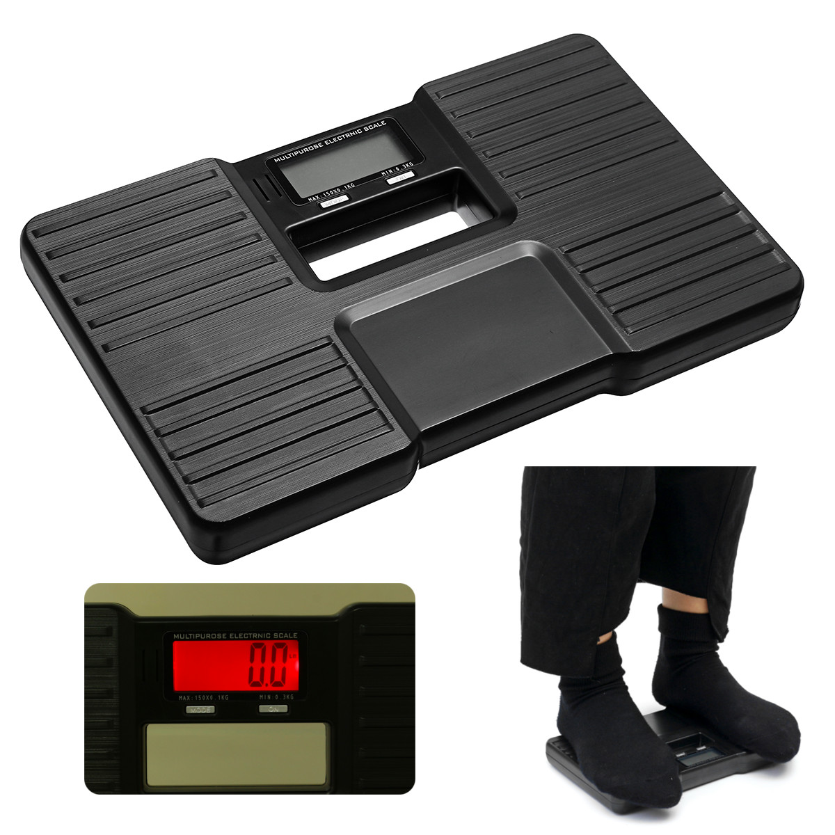 330LB/150KG Portable Electronic Weighing Scales Body Health Fat Weight Digital Scale LCD Display Weight Instruments Tools