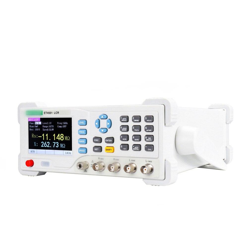 ET4501/ET4502/ET4510 LRC Benchtop Digital Bridge Desktop L CR  Tester Meter Capacitance Resistance Impedance Inductance Measure