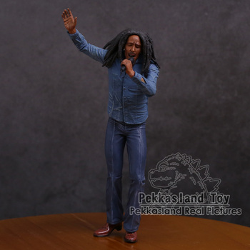 Bob Marley Music Legends Jamaica Singer & Mikrofon PVC Action Figure Collectible Model Toy 18 Cm