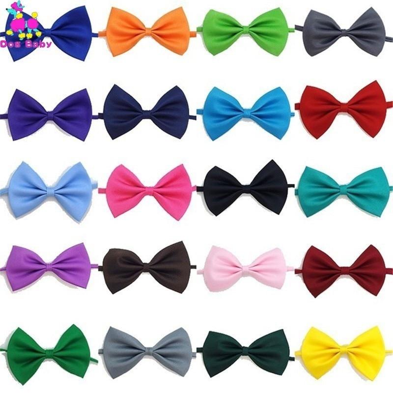 21 Colors 50PCS lot Adjustable Dog Cat Bow Tie Neck Tie font b Pet b font