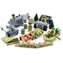 hot LegoINGlys military WW2 army Black forest war vehicles Howitzers weapon Building Blocks mini soldier figures brick toys gift