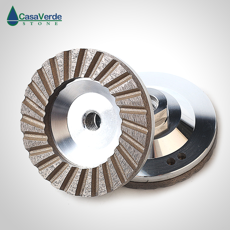 Free shipping 1pc carton 100mm diamond turbo aluminum body cup wheels 4 inch for grinding concrete