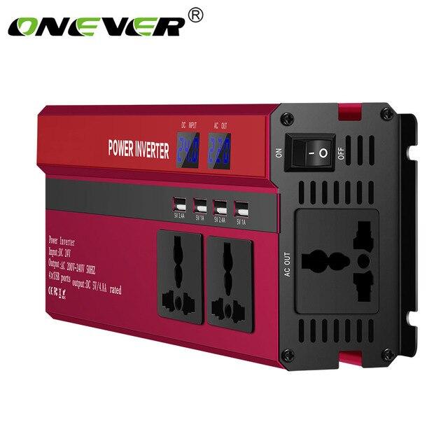 4000 واط/5000 واط الشمسية محول طاقة السيارة DC12/24 فولت إلى AC110/220 فولت شرط موجة محول شاشة ديجيتال 4 USB واجهات