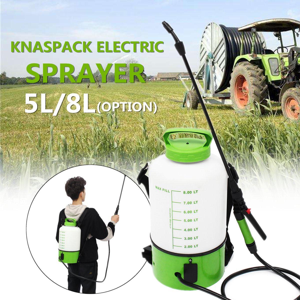 Фермерских хозяйствах, распылитель ранцевого типа для с Электрический моторный опрыскиватель спринклерной туман Duster, опрыскивание, полив раз брызги машинный насос инструменты для орошения 5/8L