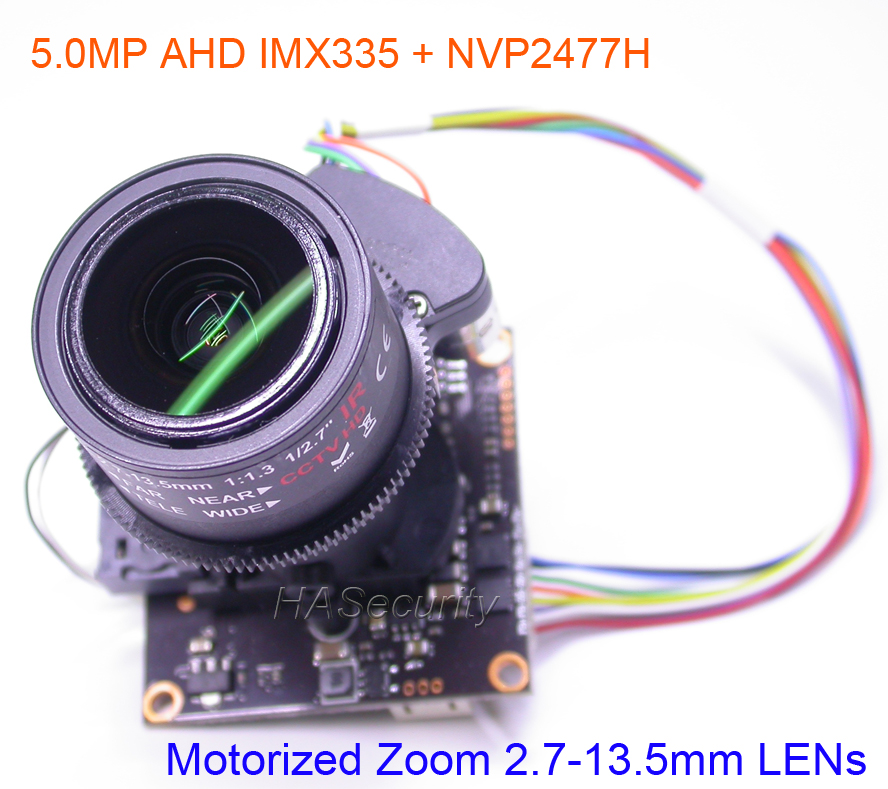 AHD 5MP 4MP Motorized Zoom 2 7 13 5mm auto Focus LENs 1 2 8 STARVIS