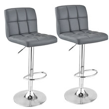 Panana 1/2 pcs Bar Stools Synthetic Leather Cushion Swivel Chair Height Adjustable Tabouret with Footrest Barstool Armless