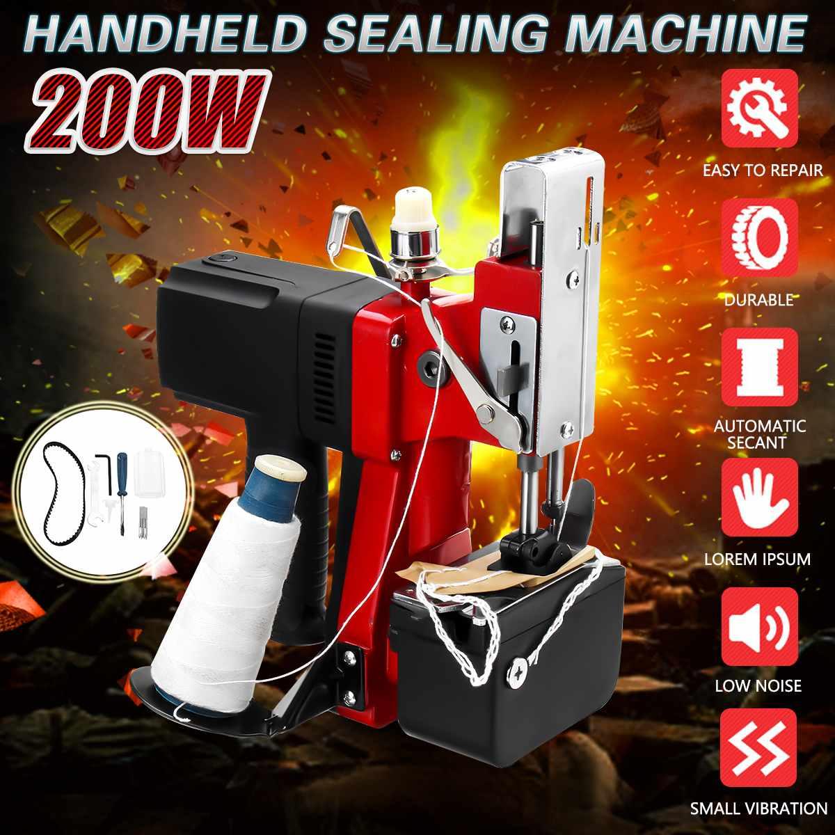 KIWARM 220 V Machine à coudre électrique industrielle Portable électrique sac à main couture joint plus proche couture Machines à sceller