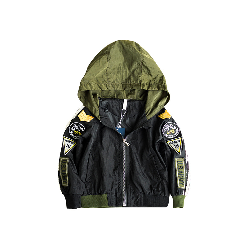Children 39 s clothing spring and autumn coat 2019 new casual long sleeved solid color multi standard hooded boy clothes in Jackets amp Coats from Mother amp Kids