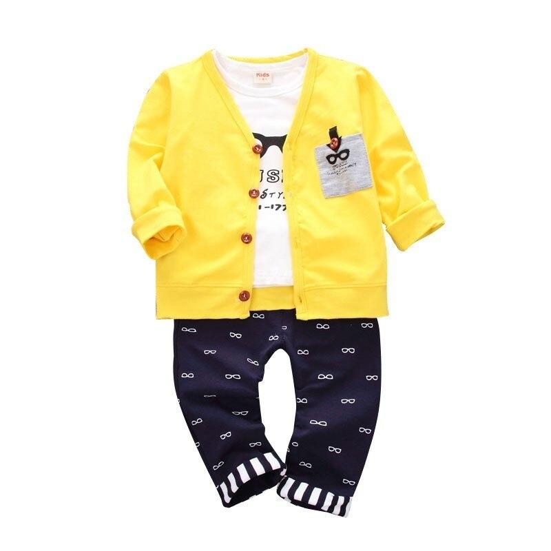 2019 Children Girls Boy Fashion Clothing Sets Autumn Winter Jacket T Shirt Pants 3 Pcs Suit Coat Clothes Baby Cotton Tracksuits Superior (In) Quality