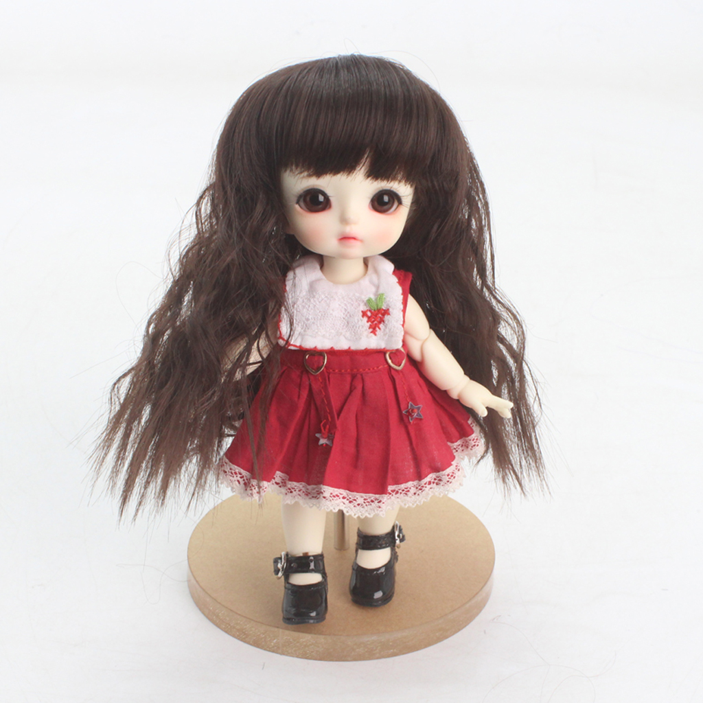 Lovely <font><b>1/8</b></font> <font><b>BJD</b></font> <font><b>Doll</b></font> <font><b>Wig</b></font> High Temperature Synthetic Fiber Curly Hair <font><b>BJD</b></font> <font><b>Doll</b></font> <font><b>Wigs</b></font> For Dollfie for DOD Hairstyle Making Supplies image