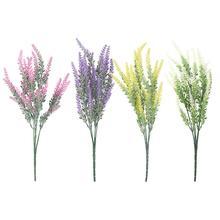 25 cabezas fiesta de boda flores artificiales lavanda falso ramo de novia fiesta decoración del hogar decoraciones flores artificiales
