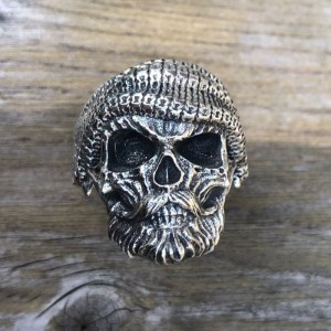 Image 4 - ZABRA Luxury Skull Ring 925 Silver Adjustable Size 6 13  Beard Rings For Men Gothic Vintage Punk Rock Biker Man Gift Jewelry