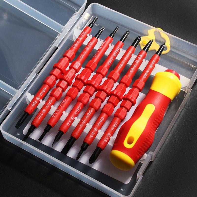 HHO-8 In 1 Multi-purpose Electrican's Insulated Electric Screwdriver Repair Hand Tools Kit Set 380v
