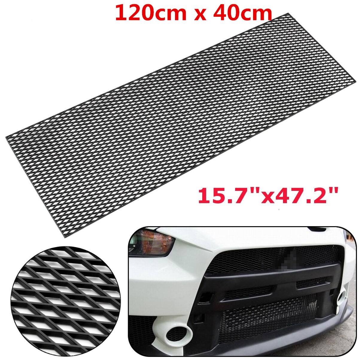 Universal Car Racing Grill Front Bumper Honeycomb Mesh Grille Hood Vent Air Intake 120x40cm
