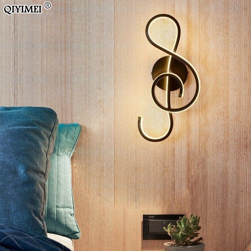 Image 3 - Branco/preto conduziu a lâmpada de parede moderna quarto ao lado da leitura luzes de parede interior sala estar corredor do hotel iluminação decoraçãoLuminárias de parede   -