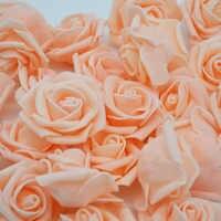 4cm 30 teile/los Große PE Schaum Rose Künstliche Blume Kopf Hause Hochzeit Dekoration DIY Scrapbooking Kranz Gefälschte Dekorative Rose