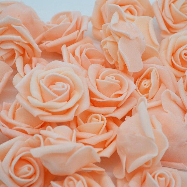 4 cm 30 cái/lốc Lớn PE Foam Rose Nhân Tạo Hoa Head Home Trang Trí Đám Cưới DIY Scrapbooking Vòng Hoa Giả Trang Trí Hoa Hồng