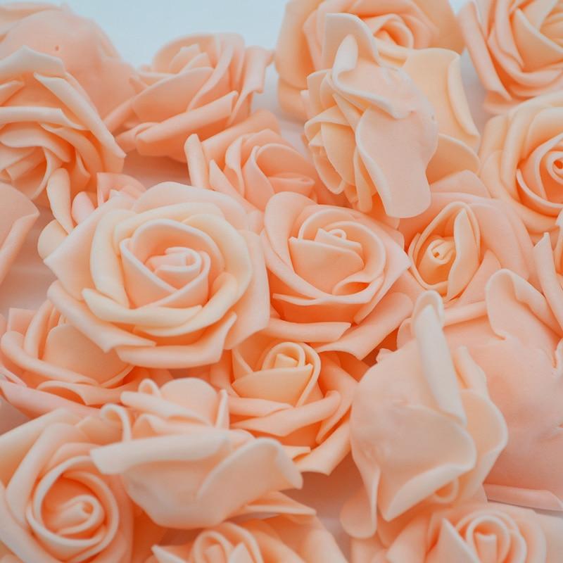 5cm 30PCS/Lot Big PE Foam Rose Artificial Flower Head Home Wedding Decoration DIY Scrapbooking Wreath Fake Decorative 65Z
