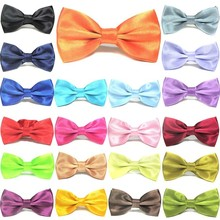 100 PCS Classic Solid Pet Dog Bow Tie Collar Adjustable Length Cat Puppy Dress Up Bowknot Necktie Gentle Man Style