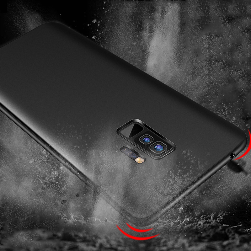 Soft TPU Case For Samsung Galaxy S10 Plus Cover Galaxy Note 9 Cases Carcas Fine Matte Silicone Capa Coque Housing Shockproof S9 in Fitted Cases from Cellphones Telecommunications