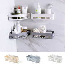 Plastic Suction Cup Bathroom Kitchen Corner Storage Shelves Goods For Cosmetics