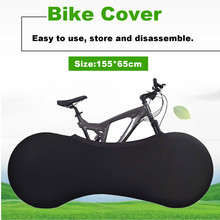 155x65cm Black Bike Cover Indoor Anti-dust Bicycle Garage Wheel Chains Cover Case Storage Bag Bicycle Protective Gear Portable