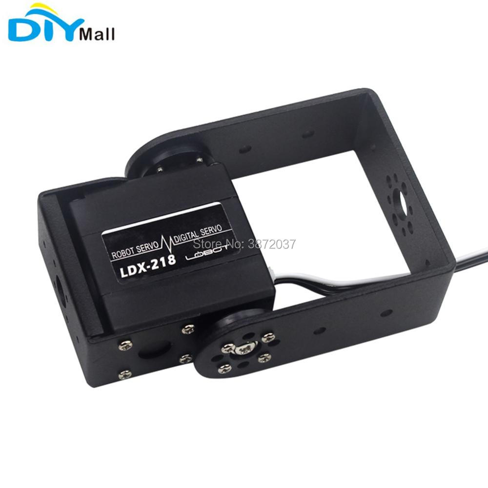LDX218 180 Degree Rotation Digital Servo Metal Gear With Bracket 15KG 17KG  Dual Shaft 6-7.4V